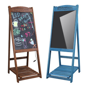Flash Led Message Chalkboard Sidewalk Coffee Store Sign Plant Stand Board Remote