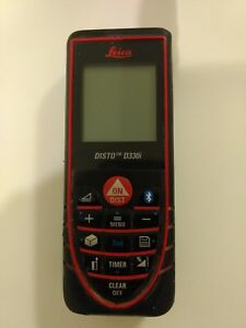 Leica Disto D330i Laser Distance Measure With Bluetooth Black red used