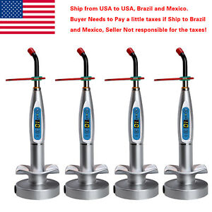 4 X Usa Dental Wireless Cordless Led Curing Light Lamp Bright Led Cure Silver