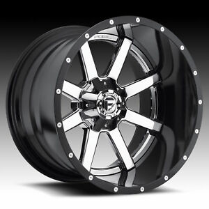 4 New 20x12 Fuel Maverick Chrome Wheel rim 8x165 1 8 165 1 8x6 5 20 12