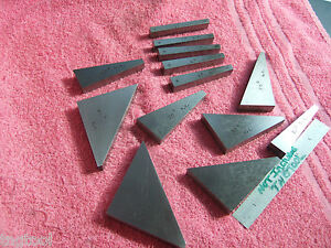 Flat Angle Gage Blocks 13 1 To 45 Machinist Toolmaker Inspection Grind