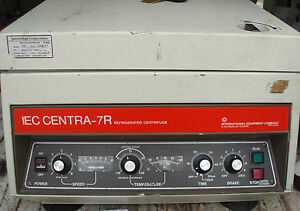 Lot Of 2 Iec Centra 7r Refridgerated Centrifuge W Rotor Buckets Tube Holders