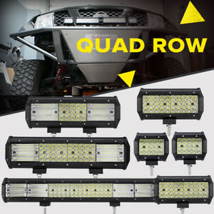 Quad Row 4 7 9 12 20 23 inch Led Work Light Bar Offroad Car Truck Driving