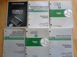 Group 11 John Deere Technical Service Manuals Check Photo