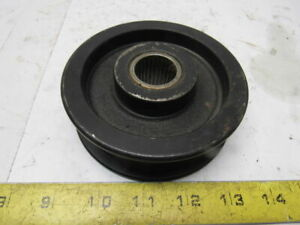 4 1 2 Od Cast Iron Flat 1 Belt Idler Tensioner Sheave Pulley 1 Bearing Bore