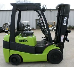 Clark Model C25c 2012 5000 Lbs Capacity Great Lpg Cushion Tire Forklift