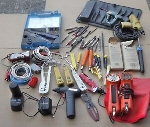 Electrical Tool Set Wire Wrappers Phones Cutters Etc 50 Pc plus