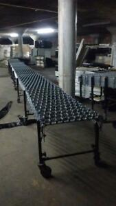 Conveyor 30 Skatewheel Rollers Metal Used Flexible Steel Skate Wheel Conveyors