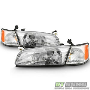 For 1997 1998 1999 Toyota Camry Headlights Headlamps W Corner Lights Left Right