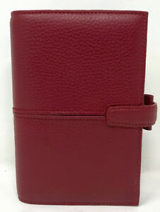 Filofax Personal Finchley Deluxe Leather Planner Organizer Red New