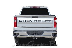 2019 2020 Chevy Silverado Tailgate Letters Name Insert Decals 3m Vinyl Graphics