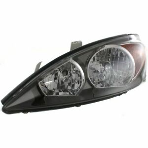 Headlight For 2002 2004 Toyota Camry Left Halogen Black Interior With Bulb