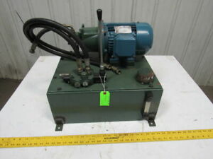 415 240v 1 5hp 1400rpm 10 Gallon Hydraulic Unit Hand Actuated Valve