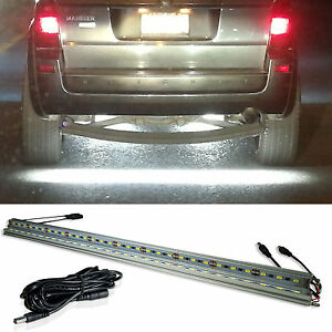 2 Led Under Car Glow Neon Accent Tail Light Stage Strip Bar White Plus Wire