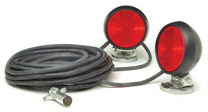 Grote 65432 4 Small Trailer Lighting Red Supernova Led Magnetic Towing Kit