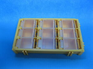 8 Pcs Smt Electronic Component Mini Storage Box 9 Lattice Blocks Yellow T 155