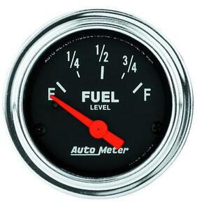 Auto Meter 2514 Traditional Chrome Electric Fuel Level Gauge 2 1 16 In