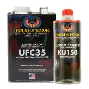 House Of Kolor Ufc35 g17 Urethane Flo klear Clearcoat Gallon Kit W Catalyst