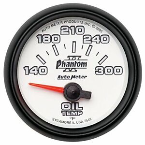 Auto Meter 7548 Phantom Ii Electric Oil Temperature Gauge