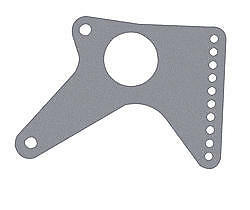 Chassis Engineering 3607 2 Rear End Ladder Bar Bracket