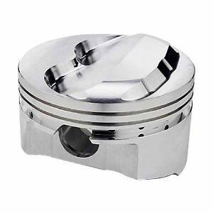 Sportsman Racing Products 142035 Sbc 400 Domed Piston Set 4 165 Bore 9cc
