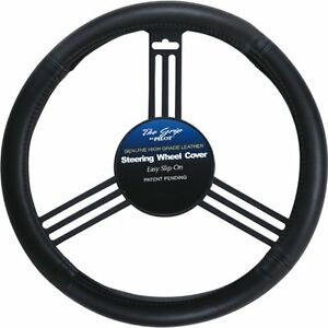 Pilot Sw 101 Genuine Black Leather Steering Wheel Cover