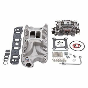 Edelbrock Powersports 2032 Manifold And Carb Kit Performer Rpm Small Block Fi