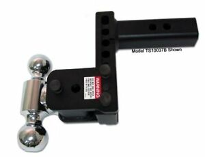 B w Ts20037b Tow Stow Dual ball Hitch 2 2 5 16 With 2 5 Shank 5 Drop 4 1