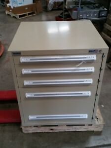 New Stanley Vidmar Industrial Storage Cabinet 5 Drawer 30 X 27 3 4 X 35 1 4