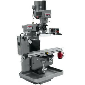 Jet 690502 Jtm 949evs Mill With X axis Powerfeed And Air Powered Draw Bar