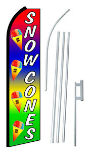 Snow Cones 15 3 X 11 5 Swooper Bow Feather Flag Complete Kit