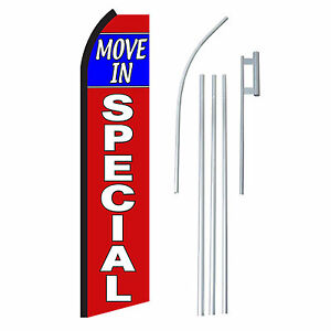 Move In Special 15 Complete Swooper Flag Starter Kit Bow Feather