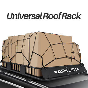 64 Universal Roof Rack Cargo Carrier W Extension Luggage Basket Suv Cargo Net