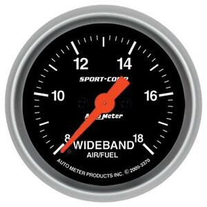 Auto Meter 3370 Sport Comp Wide Band Air Fuel Ratio Kit