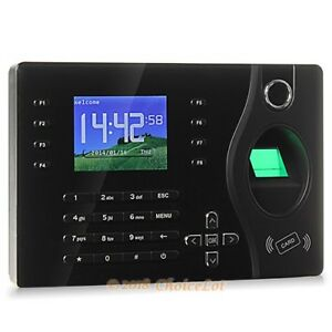 Fingerprint And Rfid Card Attendance Time Clock With Pc Software tcp ip usb