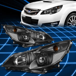 For 10 14 Subaru Outback Legacy Black Housing Projector Headlights Replacement