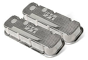 Holley 241 84 M T Polished Valve Cover For Bb Chevy