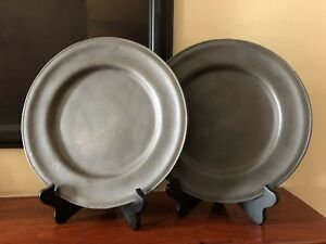 Asl Reproduction Antique Pewter Charger Plates