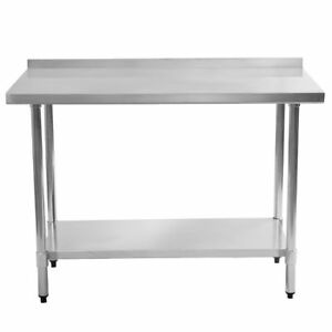 24 x48 Stainless Steel Commercial Kitchen Food Prep Table Backsplash Restaurant