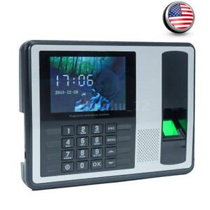Employee Attendance Fingerprint Password Time Recorder Checking in Machine a7