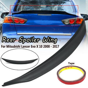 Rear Trunk Lip Spoiler Wing Abs For Mitsubishi Lancer Evo X 10 2008 2017