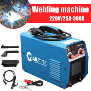 300a Welder Inverter Welding Machine Gas Gasless Mig Arc Mig 300 Gun Mask Brush