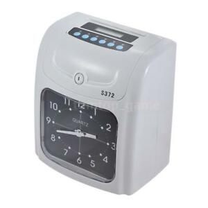 S372 Office Employee Attendance Digital Time Clock Lcd Payroll Recorder New L0n3