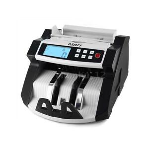 Bank Money Currency Counter Fake Detector Cash Value Lcd Display Machine Us J3y0