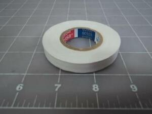 Case Of 500 Tesa 60520 10mm 3 8 20m 66ft White Electrical Tape Rolls