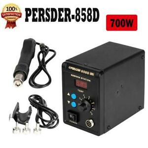 858 110v 700w Electric Hot Air Heat Gun Soldering Station Desoldering Tool Kit