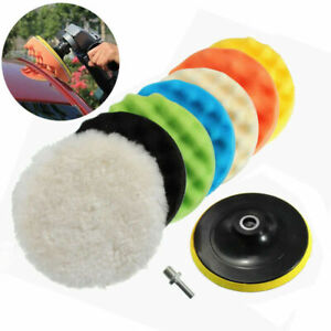 9 Pack 6 Inch Polishing Sponge Waxing Buffing Pad Compound Car Polisher Drill