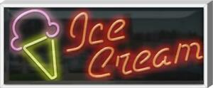 Outdoor Ice Cream Cone Neon Sign Outdoor Jantec 37 Wide X 15 High