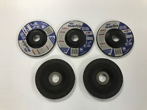 Norton 66252843205 4 1 2 X 1 4 X 7 8 Type 27 Foundry Grinding Wheel Lot Of 5