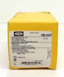 Hubbell Flush Mount Receptacle Hbl9367 50 Amp 250 Volt 2 Pole 3 Wire